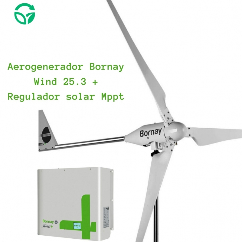 kit aerogenerador doméstico bornay wind