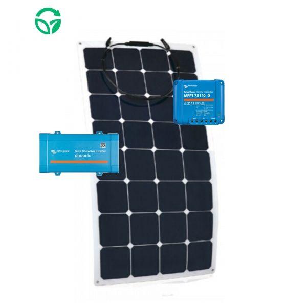 panel solar flexible para caravana con inversor
