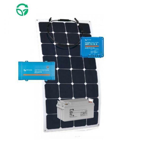 panel solar flexible para caravana con batería