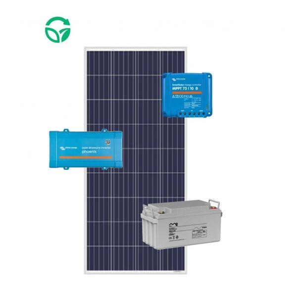 kit solar para barcos 12v con batería monoblock